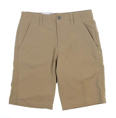 New Mens Under Armour Golf Shorts 42 Khaki MSRP $72