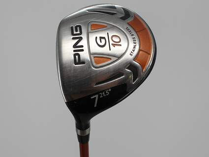 Ping G10 Fairway Wood 7 Wood 7W 21.5° Ping TFC 129F Graphite Regular Left Handed 42.0in