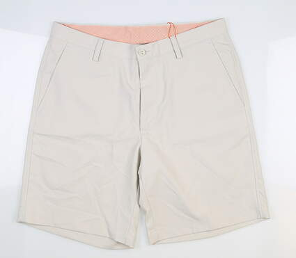 New Mens Fennec Tech Golf Shorts 32 Stone MSRP $85 000F600
