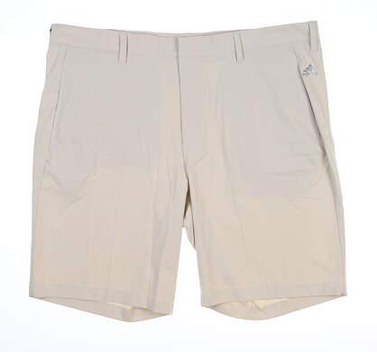 New Mens Adidas Golf Shorts 40 Ecru MSRP $60 B82610
