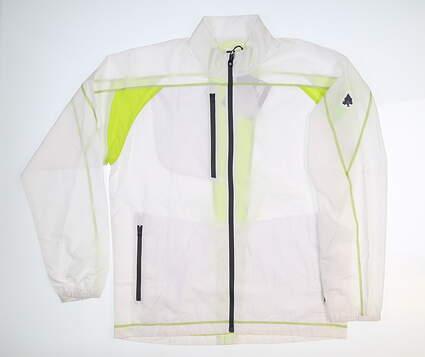 New W/ Logo Mens Footjoy Superlite Wind Jacket Medium M White MSRP $150 24828