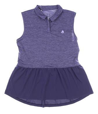 New W/ Logo Womens Under Armour Sleeveless Golf Polo Medium M Purple MSRP $72