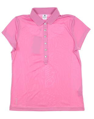 New Womens Daily Sports Mindy Polo Medium M Pink MSRP $80 743/106