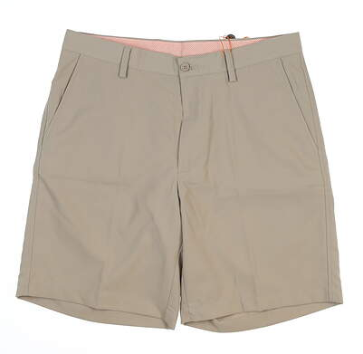 New Mens Fennec Tech Flat Front Golf Shorts 40 Khaki MSRP $85 000F600