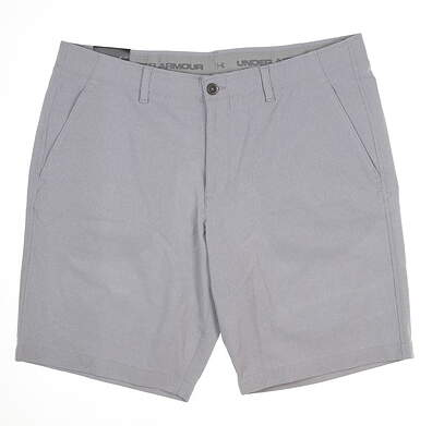 New Mens Under Armour Golf Shorts 40 Gray MSRP $70