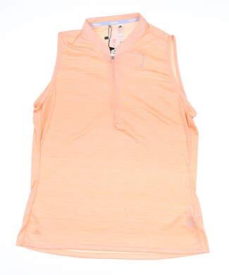 New W/ Logo Womens Adidas Novelty Sleeveless Polo X-Large XL Pink MSRP $68 DZ6307