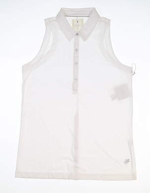 New Womens LinkSoul Sleeveless Polo X-Large XL White MSRP $70 LSW137
