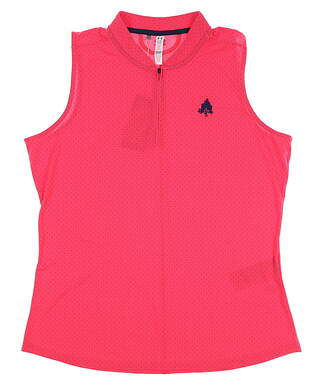 New W/ Logo Womens Under Armour Sleeveless Polo X-Large XL Pink MSRP $75 UW1441