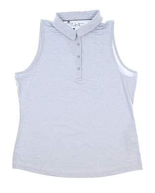 New Womens Under Armour Sleeveless Polo X-Large XL Gray MSRP $65 UW0468