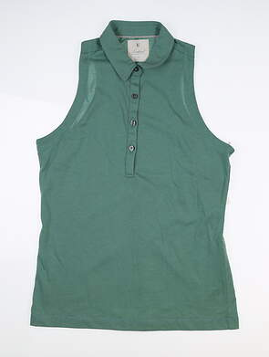 New Womens LinkSoul Sleeveless Golf Polo Medium M Green MSRP $68 LSW137