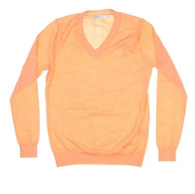 New Womens Peter Millar Golf Sweater X-Small XS Orange MSRP $80