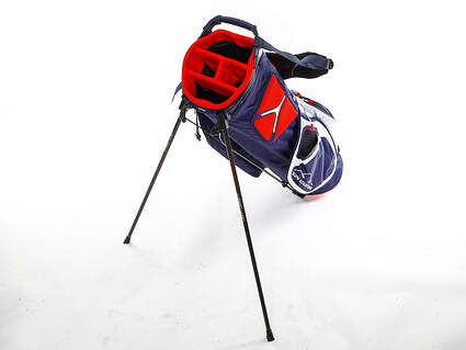 Brand New Sun Mountain 3.5 LS Navy/White/Red Stand Bag