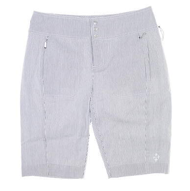 New Womens Jo Fit Seersucker Bermuda Shorts 6 Multi MSRP $98 GB045-BSS