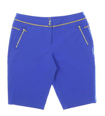 New Womens EP Sport Golf Shorts 12 Blue MSRP $80