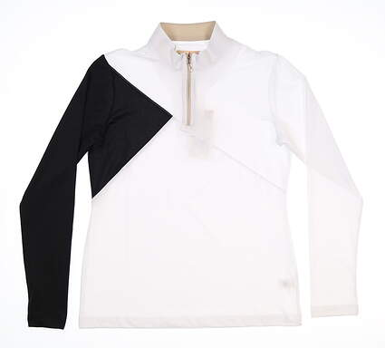 New Womens Sport Haley 1/4 Zip Golf Pullover Small S White MSRP $90 H38307TM