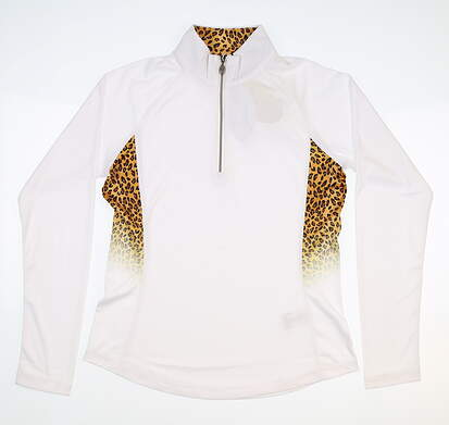 New Womens Greg Norman 1/4 Zip Pullover Small S White MSRP $95 G2F8K600