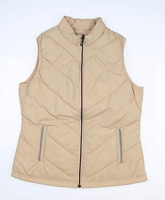 New Womens Sport Haley Golf Vest Medium M Tan MSRP $110 H38314VM