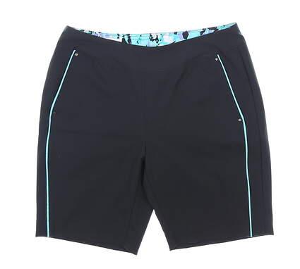New Womens Greg Norman Golf Shorts 8 Black MSRP $79