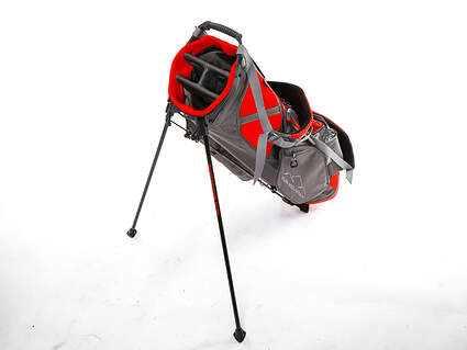 Brand New Sun Mountain 4Plus Black/Gunmetal/Red Stand Bag