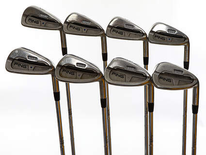 Ping S58 Iron Set 3-PW Ping Z-Z65 Steel Stiff Right Handed Blue Dot 37.0in