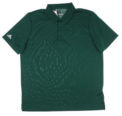 New Mens Adidas Performance Polo Large L Collegiate Green MSRP $55 CV6419