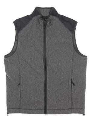 New Mens Cutter & Buck Cedar Park Full-Zip Vest Large L Gray MSRP $110