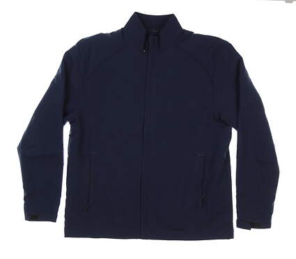 New Mens Cutter & Buck WeatherTec Blakely Full-Zip Jacket Medium M Navy MSRP $120 MCO00945