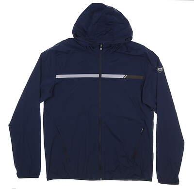 New Mens Cutter & Buck Breaker Sport Jacket Large L Navy Blue MSRP $145 MCO00036