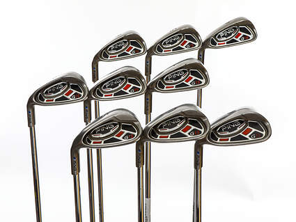 Ping G15 Iron Set 4-PW GW SW Ping AWT Steel Regular Left Handed Blue Dot 38.25in