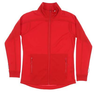 New Womens Cutter & Buck Peak Full-Zip Jacket Medium M Red MSRP $100 LCK08647