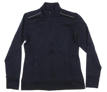 New Womens Cutter & Buck Ridge Full-Zip Jacket Medium M Navy Blue MSRP $100 LCK02571