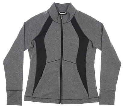 New Womens Cutter & Buck Shoreline Colorblock Full-Zip Medium M Black MSRP $100 LCK00018