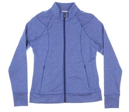 New Womens Cutter & Buck Shoreline Full Zip Medium M Blue MSRP $100 LCK00019