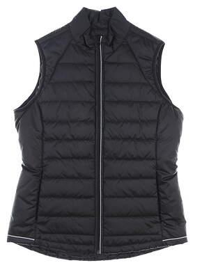 New Womens Cutter & Buck Post Alley Vest Medium M Black MSRP $120 LCO09985