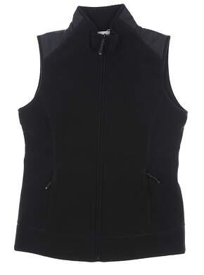 New Womens Cutter & Buck Cedar Park Vest Medium M Black MSRP $110 LCO09991
