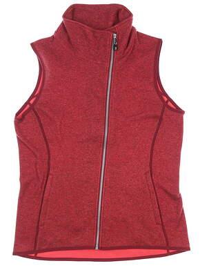 New Womens Cutter & Buck Mainsail Vest Medium M Red MSRP $120 LCO00034