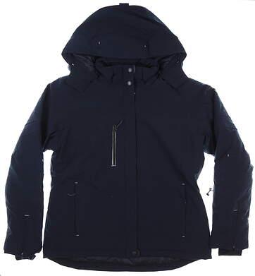 New Womens Cutter & Buck Sanders Jacket Medium M Navy MSRP $235 LCO01187