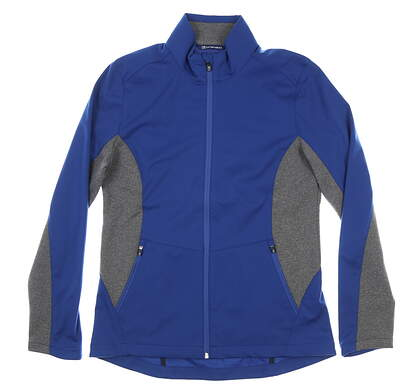 New Womens Cutter & Buck Navigate Softshell Jacket Medium M Tour Blue MSRP $115 LCO00032