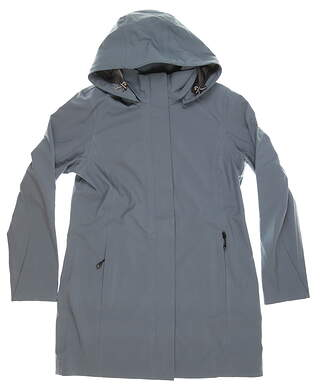 New Womens Cutter & Buck Shield Hooded Jacket Medium M Gray MSRP $280 LCO00028
