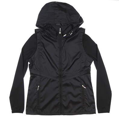 New Womens Cutter & Buck Ava Hybrid Full Zip Jacket Medium M Black MSRP $140 LCO09993