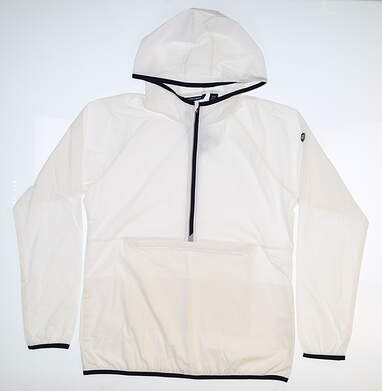 New Womens Cutter & Buck Breaker Half Zip Hooded Popover Medium M White MSRP $120 LCO00030