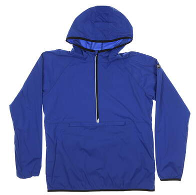 New Womens Cutter & Buck Breaker Half Zip Hooded Popover Medium M Blue MSRP $120 LCO00030