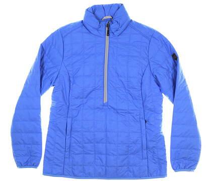 New Womens Cutter & Buck Rainier Half-Zip Jacket Medium M Blue MSRP $190 LCO00022