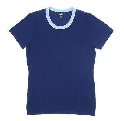 New Womens Cutter & Buck Lakemont Crew Sweater Tee Medium M Blue MSRP $85 LCS00007