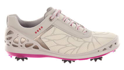 New Womens Golf Shoe Ecco Cage EVO Medium 37 (6-6.5) White/Pink MSRP $190 10201300379