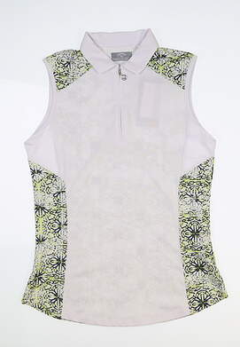 New Womens Callaway Sleeveless Polo Small S White MSRP $70 CGKS8079