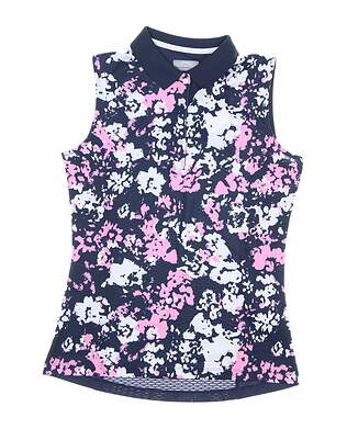 New Womens Callaway Sleeveless Polo Small S Multi MSRP $70 CGK9092GG