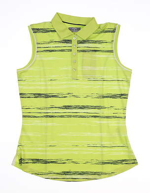 New Womens Callaway Sleeveless Polo Small S Green MSRP $70 CGKS80A9