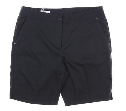New Womens Greg Norman Shorts 12 Black MSRP $65 G2S8H493