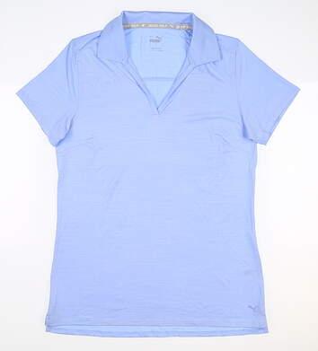 New Womens Puma Cloudspun Coast Polo Small S Blue MSRP $60 532991 09